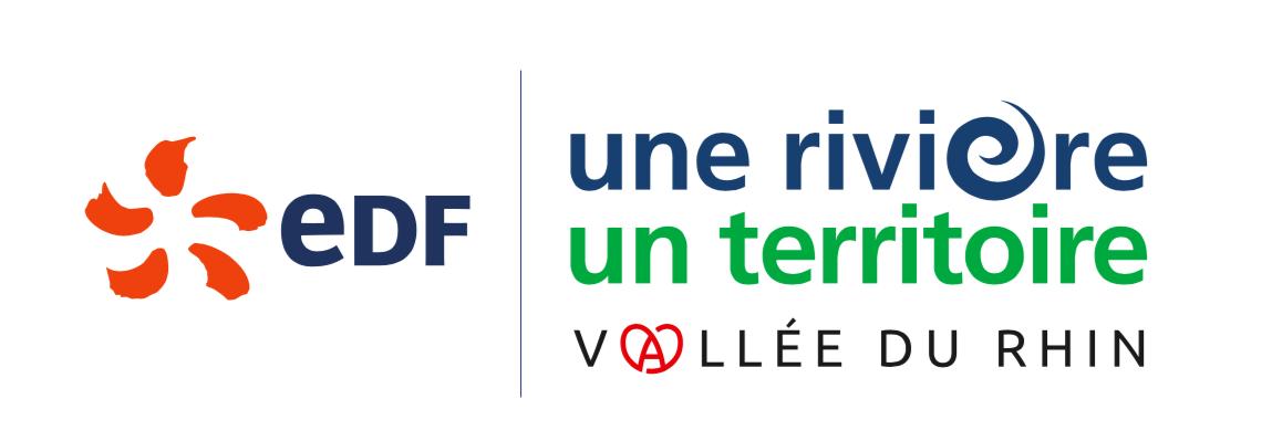 logo EDF une rivière un territoire vallée du rhin